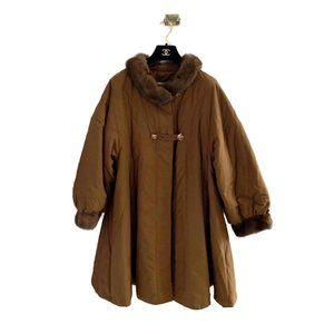 Nina Ricci Vintage Faux Fur Cape Coat